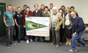 CFACT collegians with professor fred singer