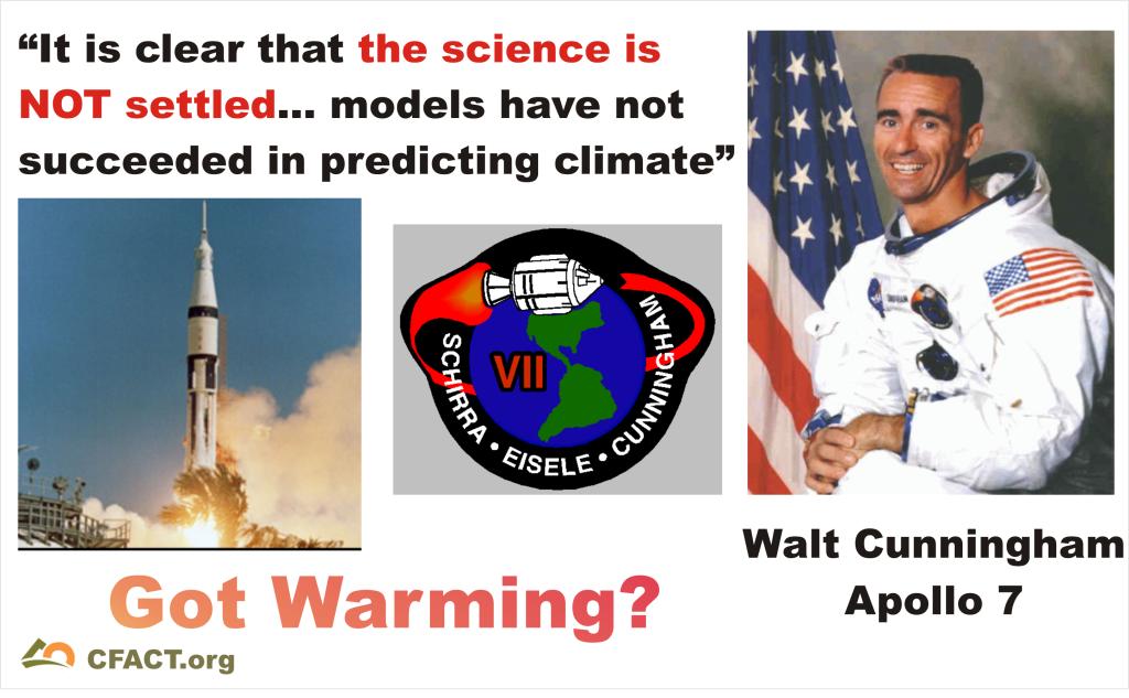 Walt cunningham science not settled