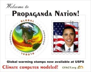 Global warming stamp computer modeled